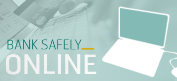 Laptops, credit cards, links to how to bank safely online