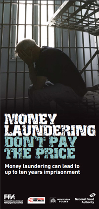 Money laundering don't pay the price